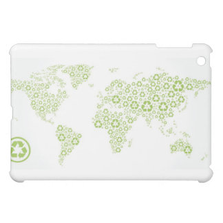 Recycle symbols used to create the planet iPad mini cover