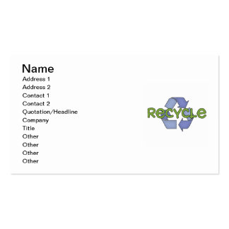 Recycle T-shirts and Gifts Business Card Template