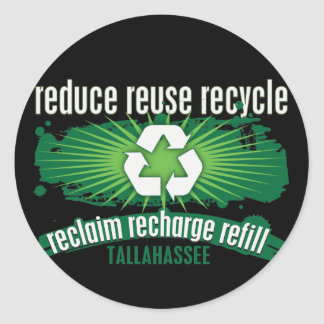 Recycle Tallahassee Classic Round Sticker