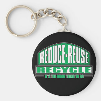 Recycle, The Right Thing Keychains