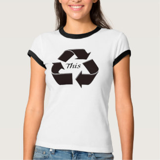Recycle This Ringer Tee