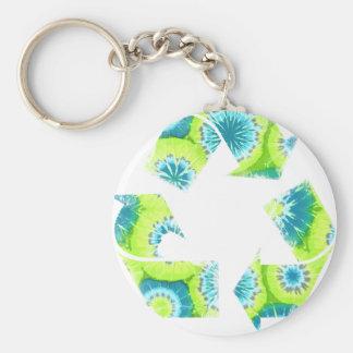 Recycle Tie Dye Keychain
