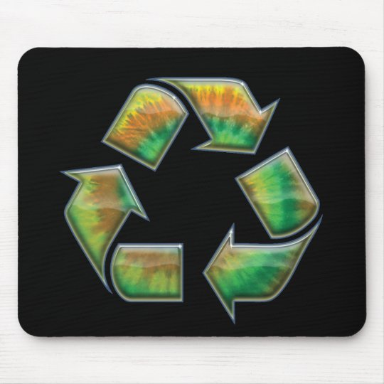 Recycle - Tie-Dye Mouse Pad