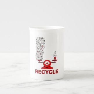 Recycle Trash Bone China Mug Tea Cup