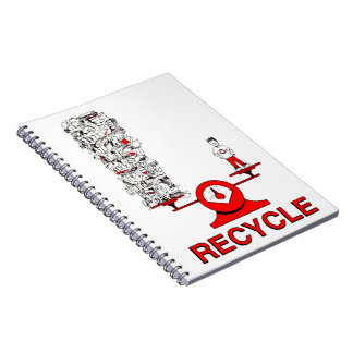 Recycle Trash Notebook