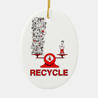 Recycle Trash Ornament