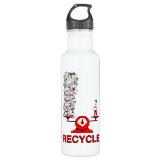 Recycle Trash Stainless Steel Water Bottle
