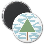 Recycle - Tree -1 2 Inch Round Magnet