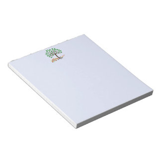 Recycle Tree and Flowers Notepad