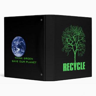 Recycle Tree Vinyl Binders