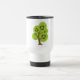 Recycle Tree Green Coffee Mugs