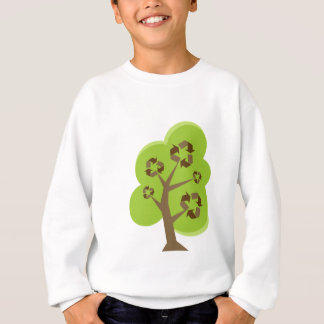 Recycle Tree Green Sweatshirt