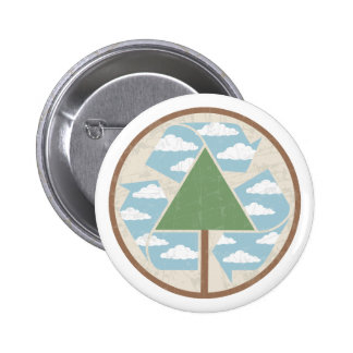 Recycle Tree & Sky Pinback Button
