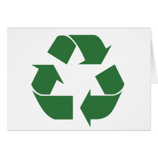 Recycle Triangle Card