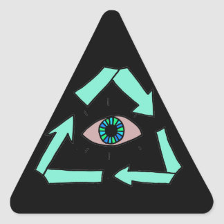 Recycle! Triangle Sticker