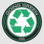 Recycle USA Round Stickers