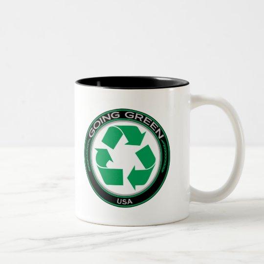 Recycle USA Two-Tone Coffee Mug