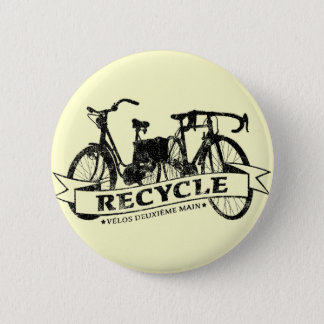 Recycle Velos ReBicycle Pinback Button