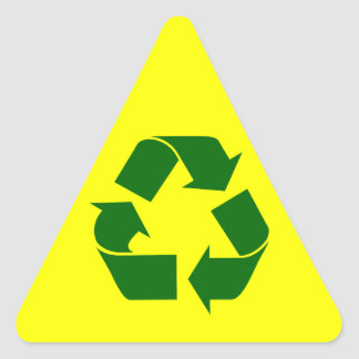 recycle : warning sticker