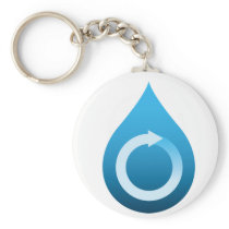 Recycle water keychain