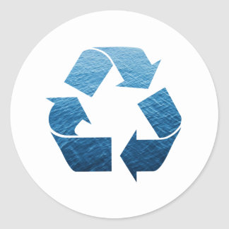 Recycle Water Round Stickers