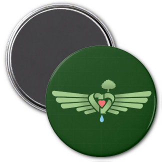 Recycle Winged Heart Refrigerator Magnets