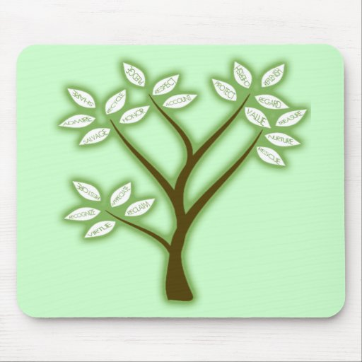 RECYCLE WORD TREE MOUSE PAD