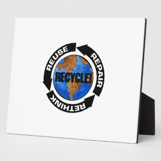 Recycle World Plaque