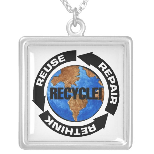 Recycle World Silver Plated Necklace