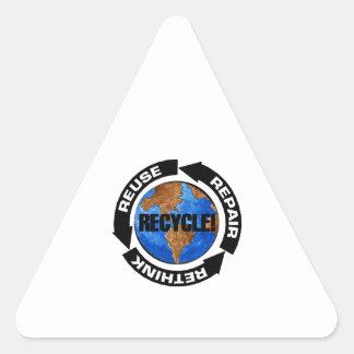 Recycle Worldt Triangle Sticker