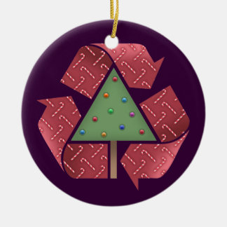 Recycle X-Mess Ceramic Ornament