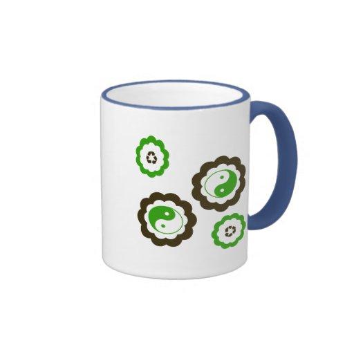 Recycle Yin Yang Ringer Coffee Mug Zazzle