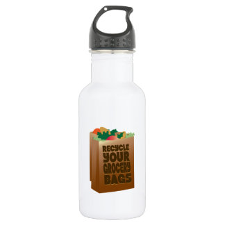 Recycle Your Grocery Bags 18oz Water Bottle