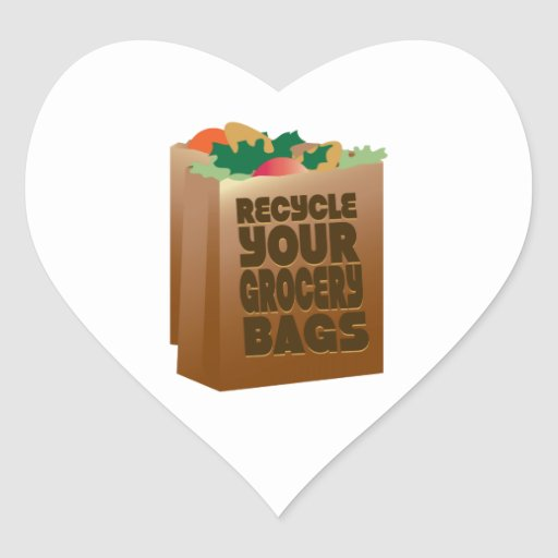 Recycle Your Grocery Bags Sticker
