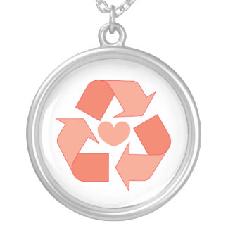 Recycle Your Love With Me Round Necklace