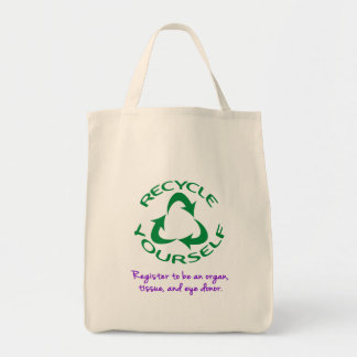 Recycle Yourself Grocery Tote Bag