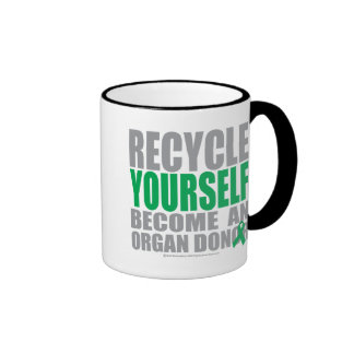 Recycle Yourself Organ Donor Ringer Mug
