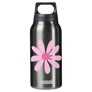 Recycled Aluminum - Big Pink Daisy Insulated Water Bottle