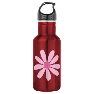 Recycled Aluminum - Big Pink Daisy Stainless Steel Water Bottle