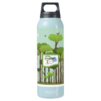 Recycled Aluminum Terra Bella Water Bottle-Trees Insulated Water Bottle