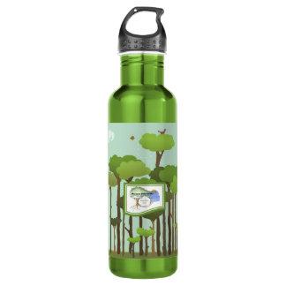 Recycled Aluminum Terra Bella Water Bottle-Trees Stainless Steel Water Bottle