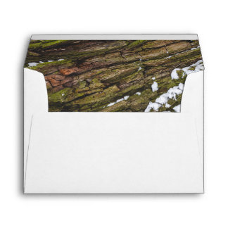 Recycled Bark Lined White A7 Envelope