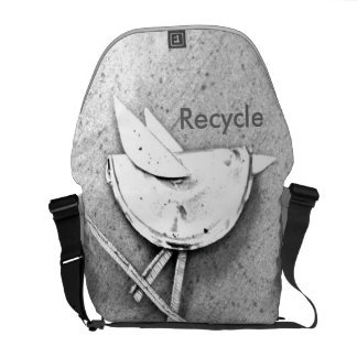 Recycled Bird Courier Bag