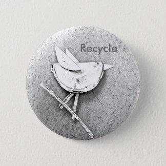 Recycled Bird Pinback Button