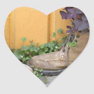 Recycled Boots Make Good Planters Heart Sticker