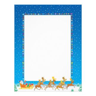 Recycled Christmas Paper - Santa Sleigh Design Letterhead