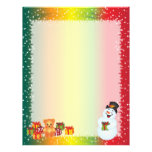 Recycled Christmas Paper - Snowman Design Letterhead