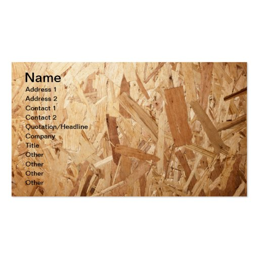 Recycled Compressed Wood Texture For Background Double-Sided Standard Business Cards (Pack Of 100)