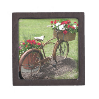 recycled flower bicycle gift box