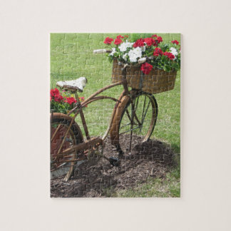 recycled flower bicycle jigsaw puzzle